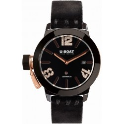 U-BOAT CLASSICO CERAMIC BK ROSE GOLD 42MM