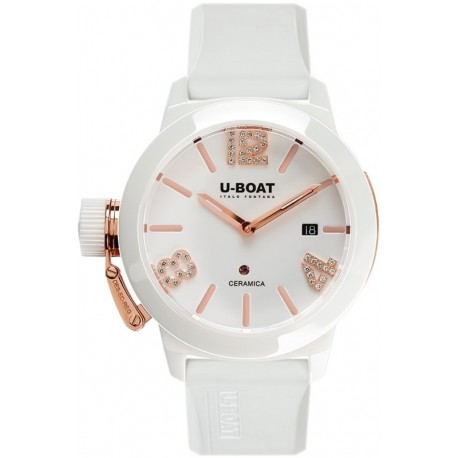 U-BOAT CLASSICO CERAMIC WT ROSE GOLD 42MM