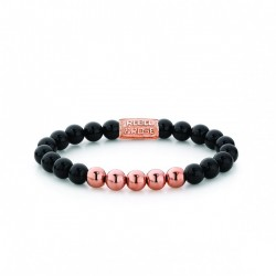 Rebel & Rose Black Panther Rose gold plated 8mm