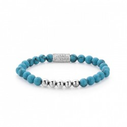 Rebel & Rose bracelet Turquoise Delight silver color 6mm