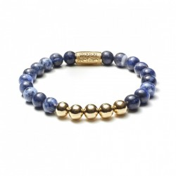 Rebel & Rose armband Midnight Blue yellow gold 8mm
