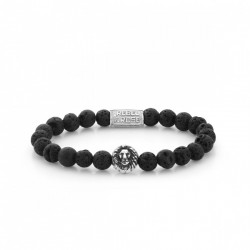 Rebel & Rose armband Black Moon silver color
