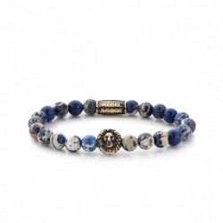 Rebel & Rose Lion Head armband Universe Blue Gold color