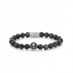 Rebel & Rose Lion Head armband Grey Seduction Silver color