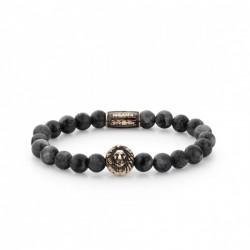 Rebel & Rose Lion Head bracelet Grey Seduction Rose Gold color
