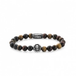Rebel & Rose Lion Head bracelet Who's afraid of the lion silver color