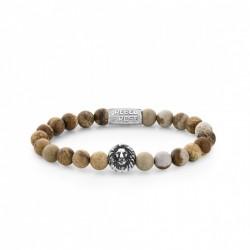 Rebel & Rose Lion Head bracelet Woodstock Silver color