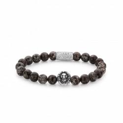 Rebel & Rose Lion Head bracelet Brown Sugar Silver color