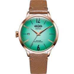 Welder Moody WRC110 38mm Rose Gold Case Leather Light Brown Strap