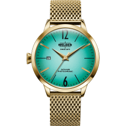 Welder Moody WRC624 38mm Gold Case Mesh Gold Strap