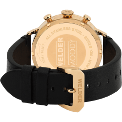Welder Moody WWRC102 38mm Rose Gold Case Leather Black Strap