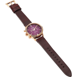 Welder Moody WWRC103 38mm Rose Gold Case Leather Burgundy Strap