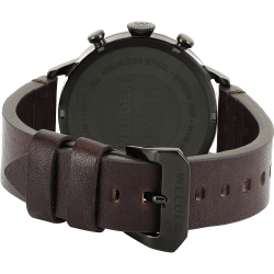 Welder Moody WWRC207 42mm Black Case Leather Dark Brown Strap