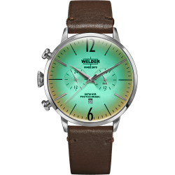 Welder Moody WWRC302 45mm Steel Case Leather Dark Brown Strap
