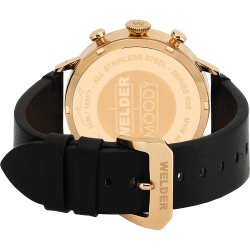 Welder Moody WWRC306 45mm Rose Gold Case Leather Black Strap
