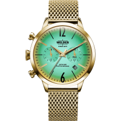 Welder Moody WWRC604 38mm Gold Case Mesh Gold Strap