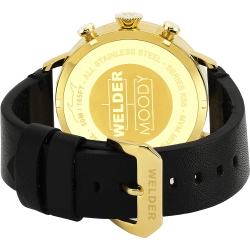 Welder Moody WWRC301 45mm Gold Case Leather Black Strap