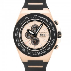 Otumm Day Date Rose Gold 01 Black Bezel 52mm