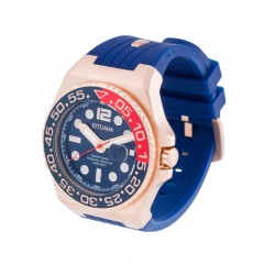 Otumm Athletics Rose Gold Calendar Blue 45mm