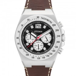 Otumm Athletics Chrono Leather Steel Black 45mm