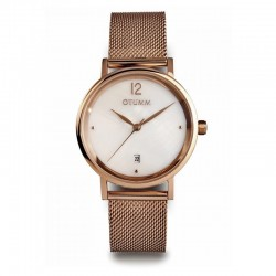 Otumm Mesh Lady Rose Gold Calendar MOP 36mm