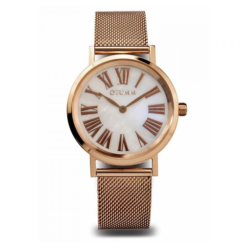 Otumm Mesh Lady Rose Gold Calendar Roman 36mm