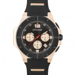 Otumm Speedster Rose Gold 002 Black Bezel 45mm
