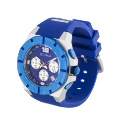 Otumm Speedster Steel 004 Blue Bezel 45mm