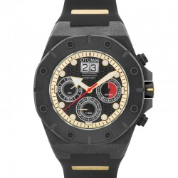 Otumm Carbon Fiber Chrono 01 Black Red Hand 52mm
