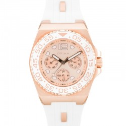 Otumm Sea Breeze Multi Function Rose Gold White Strap 40mm RG Dial