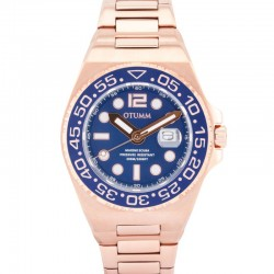 Otumm Scuba Metal Rose Gold Blue 45mm