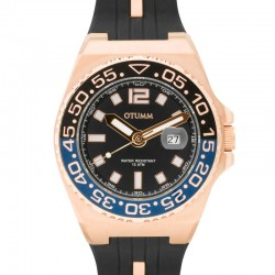 Otumm Athletics II Calendar Bi-Colour Rose Gold 45mm Black