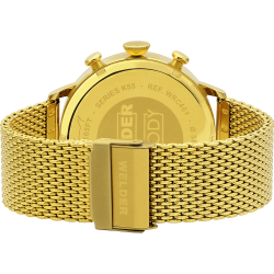 Welder Moody WWRC402 45mm Gold Case Mesh Gold Strap