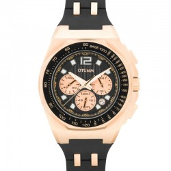 Otumm Sports Tachymeter Chrono Rose Gold Black 45mm