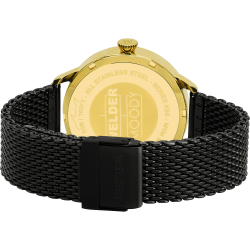 Welder Moody WRC635 38mm Gold Case Mesh Black Strap