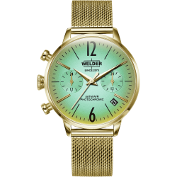Welder Moody WWRC714 36mm Gold Case Mesh Gold Strap