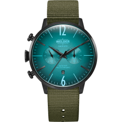 Welder Moody WWRC1010 47mm Black Case Nylon Green Strap