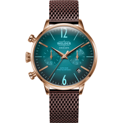 Welder Moody WWRC610 38mm Rose Gold Case Mesh Wine Strap