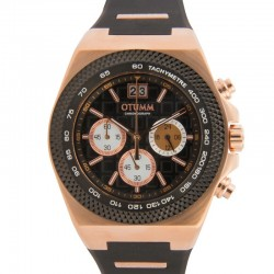 Otumm Big Date Rose Gold 45mm Black Bezel 01 Black