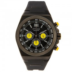 Otumm Big Date Black 45mm Yellow