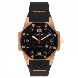Otumm Classic Speed 41mm Rose Gold Black Bezel/Black