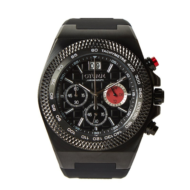 Otumm Big Date Black 45mm Black strap