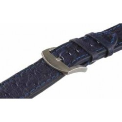 U-boat 23mm Ostrich blue Steel U-Strap 6183