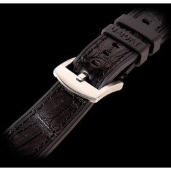 U-Boat 20mm Rubber with alligator inset Steel U-Strap 6425