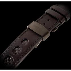 U-Boat 23mm Calf leather circular insert of carbon fiber IPB U-Strap 1263