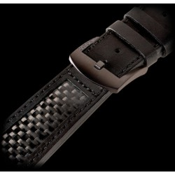 U-Strap 26mm Calf black rectangular insert of carbon fiber IPB U-Strap 1264