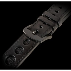 U-Boat 23mm Calf black manta inset IPB U-Strap 5001