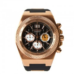 Otumm Big Date Rose Gold 45mm Black Strap