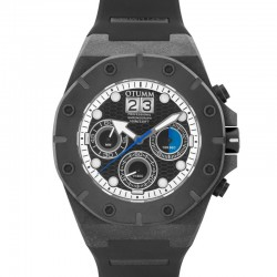 Otumm Carbon Fiber Chrono 03 Black Blue Hand 52mm