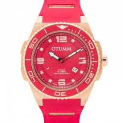 Otumm Diver Rose Gold 007 Red 53mm